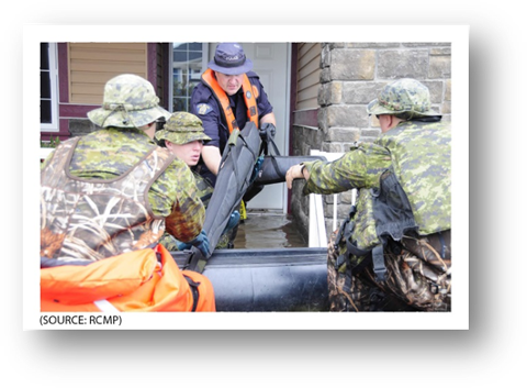 Photo of RCMP members seizing firearms.